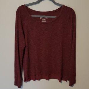 American Eagle Soft & Sexy Burgundy Sweater